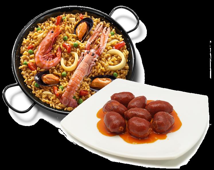 Combo tapa + paella